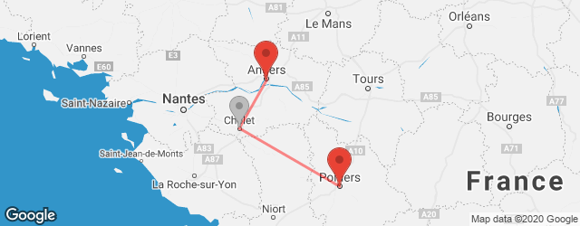 Popular indirect connections Angers → Poitiers