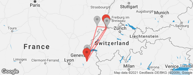 Popular indirect connections Annecy → EuroAirport Basel Mulhouse Freiburg (EAP)