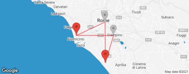 Popular indirect connections Ardea → Rome–Fiumicino Airport (FCO)