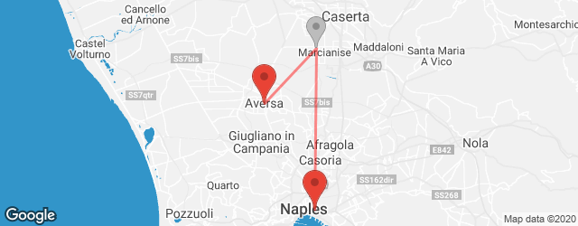 Popular indirect connections Aversa → Naples