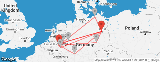 Popular indirect connections Berlin Airport Tegel (TXL) → Born
