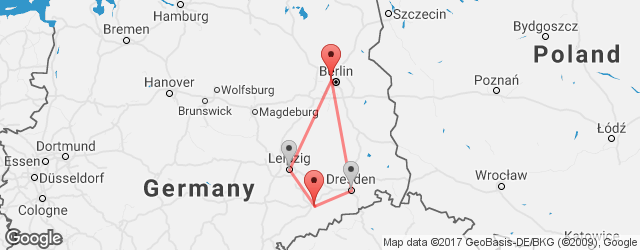 Popular indirect connections Berlin Airport Tegel (TXL) → Chemnitz