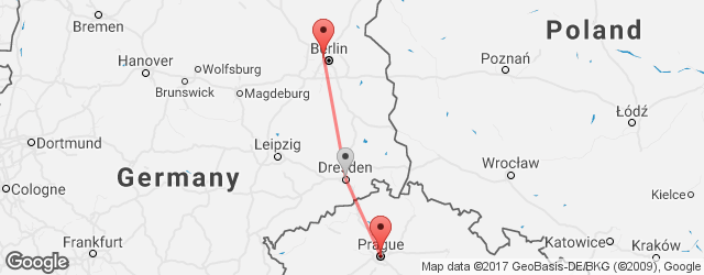 Popular indirect connections Berlin Airport Tegel (TXL) → Prague