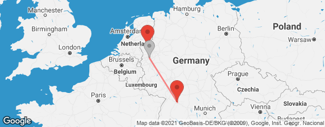 Popular indirect connections Bocholt → Stuttgart