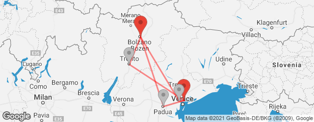 Popular indirect connections Bolzano → Venice Marco Polo Airport (VCE)