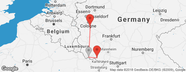 Popular indirect connections Bonn → Pirmasens