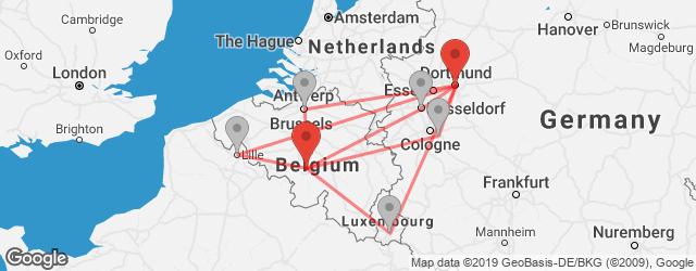 Popular indirect connections Brussels South Charleroi Airport (CRL) → Dortmund