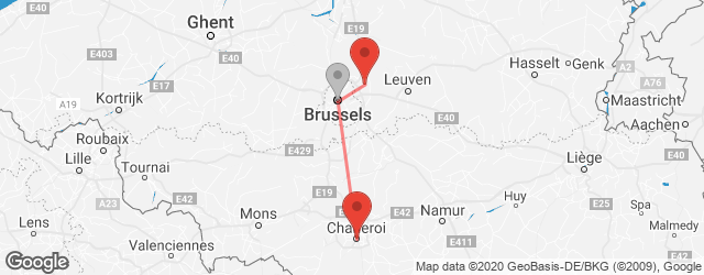 Popular indirect connections Brussels Zaventem Airport (BRU) → Charleroi