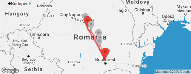 Popular indirect connections Bucharest-Otopeni Airport (OTP) → Sighişoara
