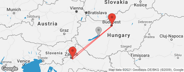 Popular indirect connections Budapest → Zagreb Airport (ZAG)