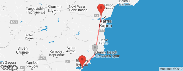 Popular indirect connections Burgas → Varna Airport (VAR)