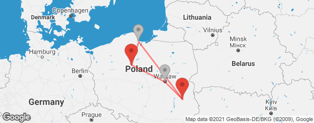 Popular indirect connections Bydgoszcz → Lublin