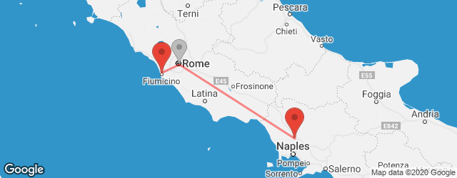 Popular indirect connections Caserta → Rome–Fiumicino Airport (FCO)