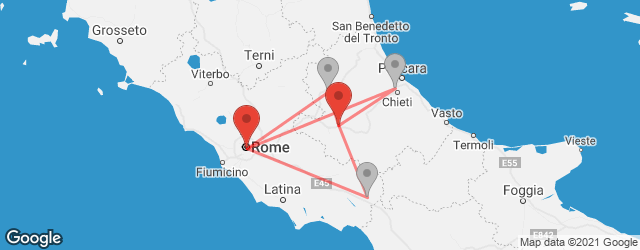 Popular indirect connections Celano → Rome