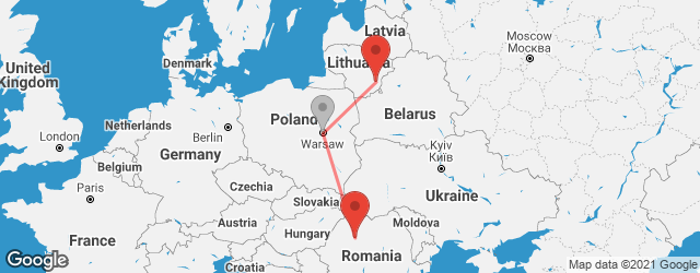Popular indirect connections Cluj-Napoca → Vilnius