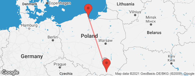 Popular indirect connections Gdynia → Gorlice