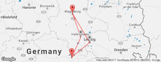 Bus Jena Magdeburg Cheap Coach Tickets Busradarcom - Germany map jena