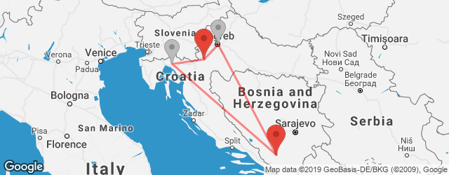 Popular indirect connections Karlovac → Mostar