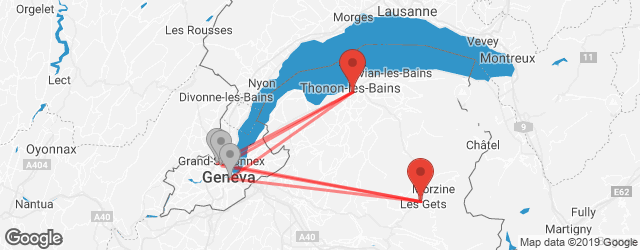 Popular indirect connections Les Gets → Thonon-les-Bains