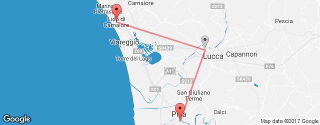 Bus Lido Di Camaiore Pisa Cheap Coach Tickets Busradarcom - Pisa bus map