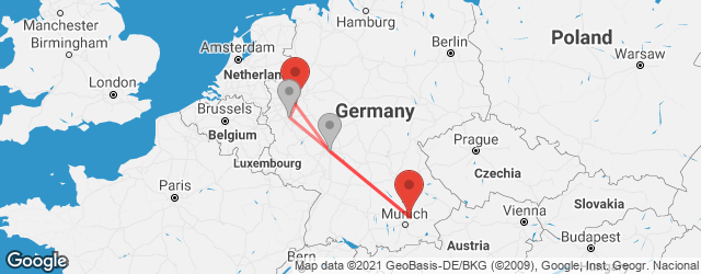 Popular indirect connections Munich Airport (MUC) → Wuppertal
