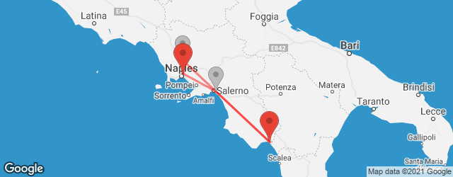 Popular indirect connections Naples International Airport (NAP) → Sapri