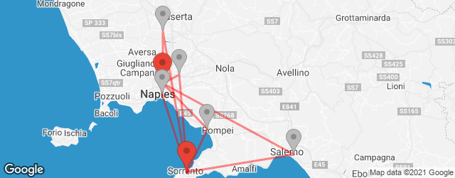 Popular indirect connections Naples International Airport (NAP) → Sorrento