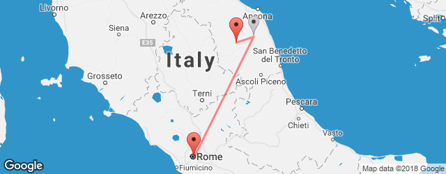 Popular indirect connections Rome → San Severino Marche